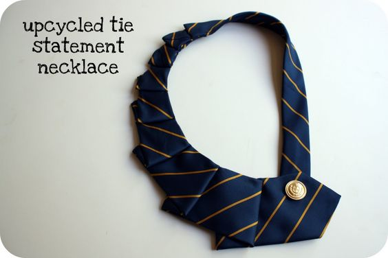 Crazy Wonderful: upcycled tie necklace - tutorial