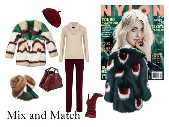 """""""Faux Fur"""" by mariea23 ❤ liked on Polyvore featuring Victoria Beckham, M&S Collection, Caroline De Marchi, Meadham Kirchhoff, women's clothing, women, female, woman, misses and juniors"""