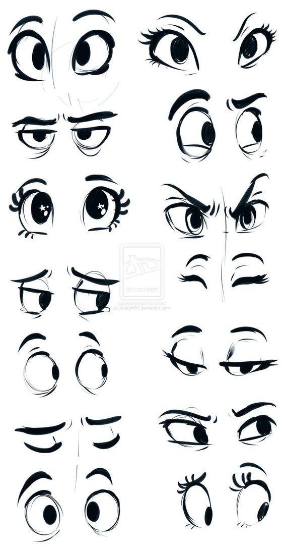 Eyes by sharpie91 on deviantART (http://www.deviantart.com/art/Eyes-451041990) ★ ||