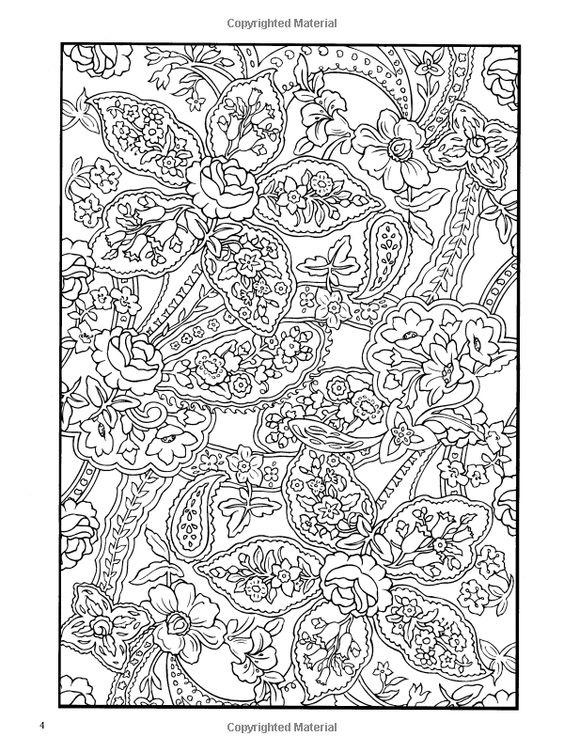 Amazon Paisley Designs Coloring Book Dover Design