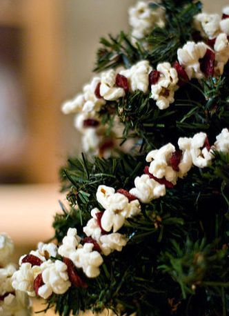 Popcorn garlands and cranberries on pinterest for Artificial cranberries decoration