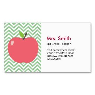 Substitute teacher business card template tutor business for Teacher business cards templates free