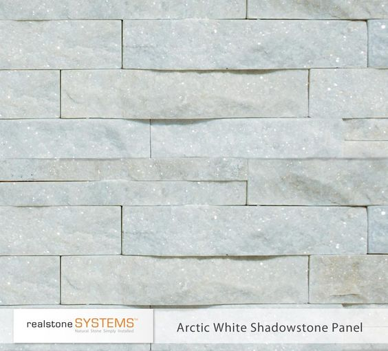 Stone Veneer White : Thin stone veneer and stones on pinterest