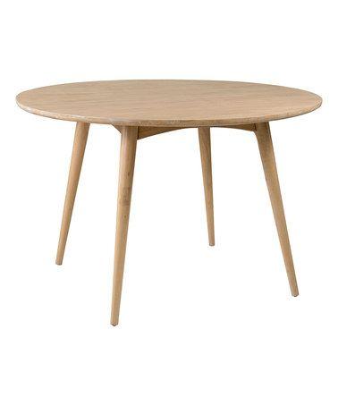Look what I found on #zulily! Beige Walker Round Dining Table #zulilyfinds
