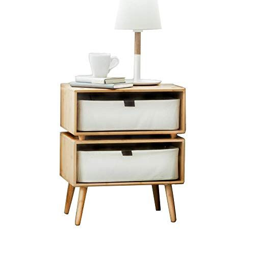 Xiaolin Table Furniture 2 Drawer Bedside Table Night Stand