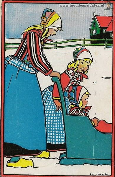 Rie Cramer  was a Dutch illustrator , book cover designer and writer.