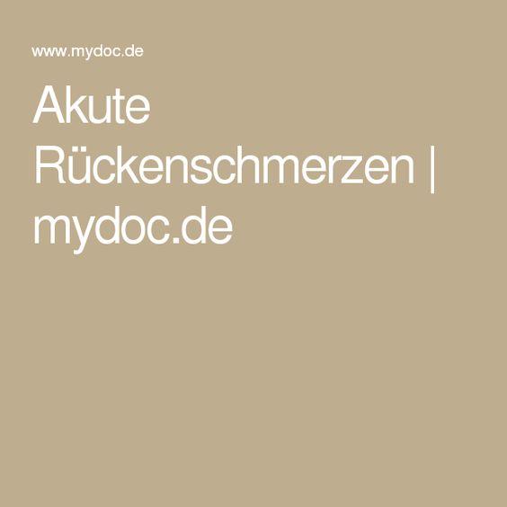 Akute Rückenschmerzen | mydoc.de