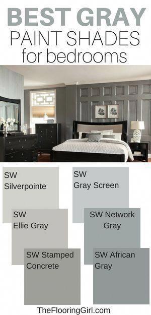 The 5 Best Paint Colors For Bedrooms Best Gray Paint Paint Shades Grey Paint