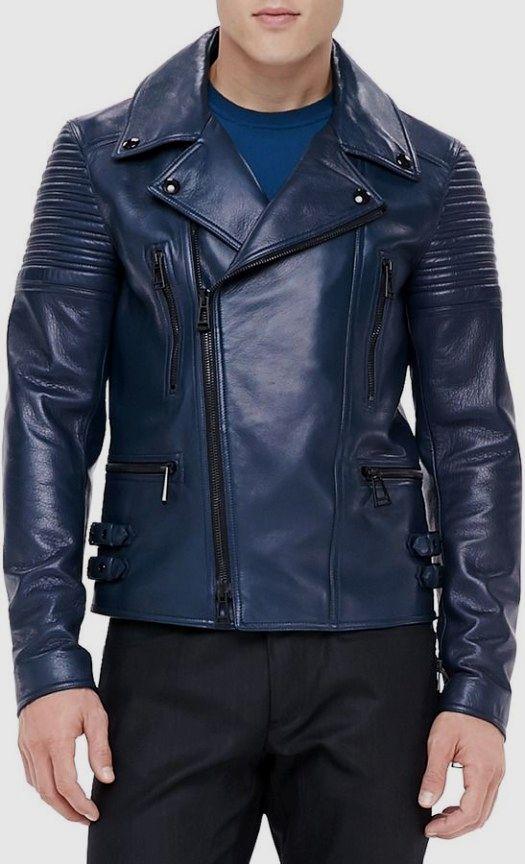 Men S Jacket Good Look Fashionjacket Mensjacket Blue Leather