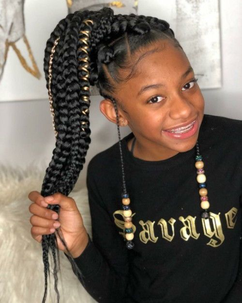 Black Kids Hairstyles With Braids Beads And Accessories Black Kids Hairstyles Kids Hairstyles Kids Braided Hairstyles