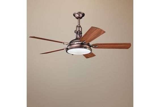 "Kichler Hatteras Bay Ceiling Fan - 56"" Burnished Bronze - #EUN0824 - Euro Style Lighting"