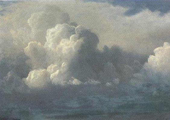 Storm Clouds 1880 Painting by Albert Bierstadt | Oil ...