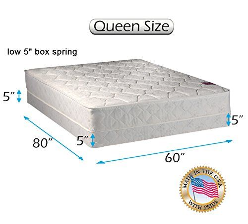 Dream Sleep Legacy Single Sided Mattress And Low Profile Box Spring Set With Bed Frame Included None Flip Orthopedic Long La Box Spring Spring Set Mattress