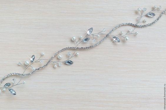Купить Свадебный ободок - ободок для волос, ободок, ободок для невесты, ободок…