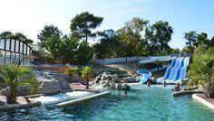 L'espace aquatique chauffé à 25° du camping Le Palace ****, à Soulac sur Mer http://bougerenfamille.com/camping-soulac-sur-mer-le-palace/
