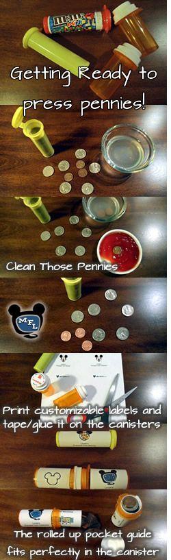 Walt Disney World Pressed Coin Checklist Pocket Guides