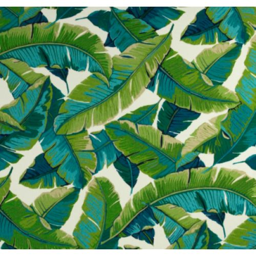 Resort Palm Leaf in Green Outdoor Fabric PO907: