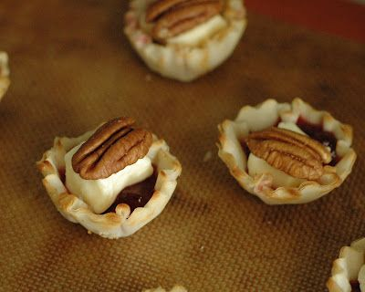 Phyllo Cups with Brie, Preserves, and Pecans