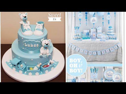 تنسيق حفلات مواليد اولاد صبيان Baby Boy Shower Parties Youtube Birthday Diaper Cake Cake
