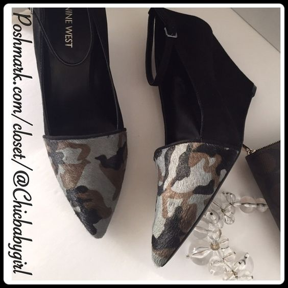 "#[NINE WEST] GRAY MULTI PONYHAIR WEDGE Size--9 With Tags $99 RETAIL + Tax   Sleek & sexy ankle strap wedge style-paint ponyhair   *Ponyhair/suede upper *Padded footbed *Ankle adjustable strap *Pointed toe *Man-made sole/lining *Wrapped wedge heel 3.5"" *Runs True To Size   2+ BUNDLE=SAVE  ‼️NO TRADES--NO HOLDS--NO MODELING   Brand Name Items Authentic   ✈️ Ship Same Day--Purchase By 2PM PST    USE BLUE OFFER BUTTON TO NEGOTIATE   ✔️ Ask Questions Not Answered In Description--Want You To Be…"