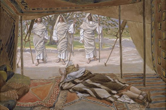 Abraham and the Three Angels by James Tissot