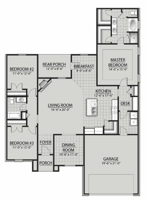 Reims IV C in Ashton Parc   Floor Plan   DSLD Homes   Desk ... on