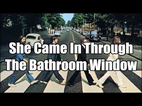 The Beatles She Came In Through The Bathroom Window Lyrics Bathroom Windows Beatles Bathroom The Beatles