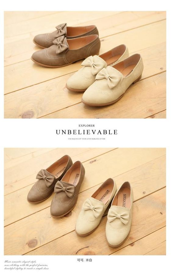 Bow accent oxford flats
