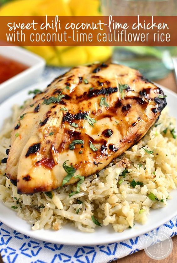 Chili Coconut-Lime Grilled Chicken with Coconut-Lime Cauliflower Rice ...