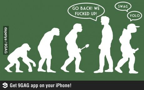 De-evolve.