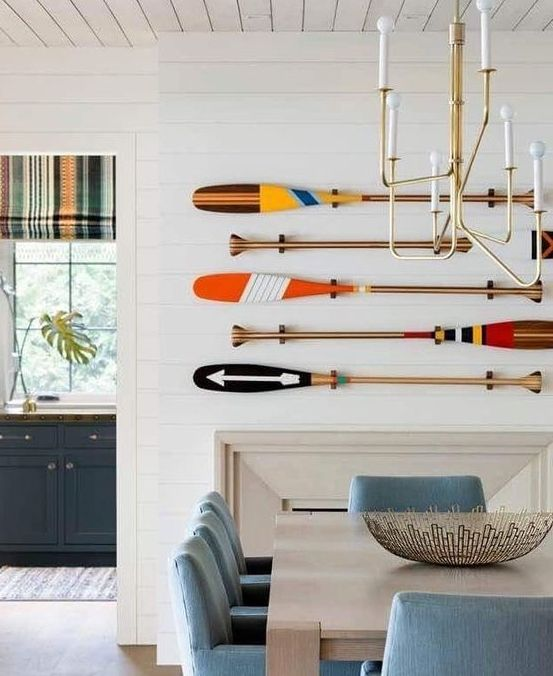 Painted Oars Wall Art Decor Ideas In 2020 Painted Oars Decor House Interior