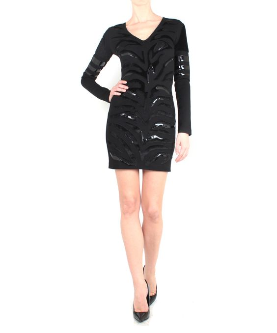 Amen Jersey dress with faux pony patch and vynil | Lindelepalais.com 27779