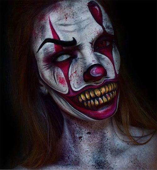 20 Halloween Clown Make Up Ideen Fur Madchen Und Frauen 2018