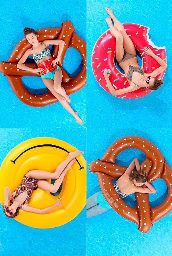 love these fun floats! want the donut one... so cute!