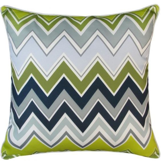 Wave pattern pillow with turquoise blue wavy lines abstract modern art deco pillows