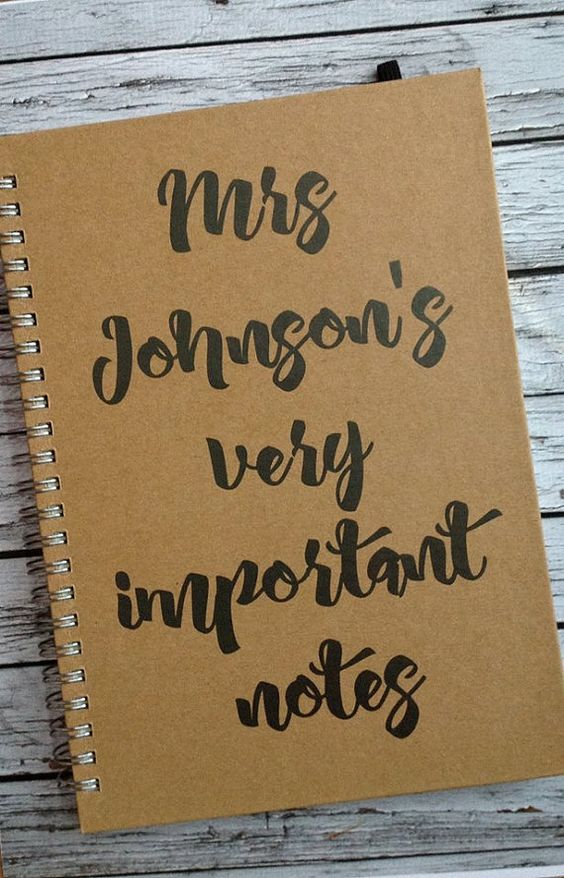 Personalised Teachers Notebook. A great little by Flippyflopsuk