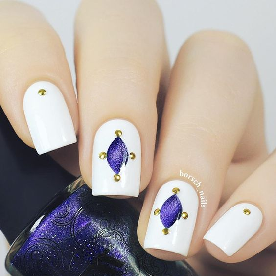 gold-nail-41 - 45 Gold Nails You Wish to Try   <3