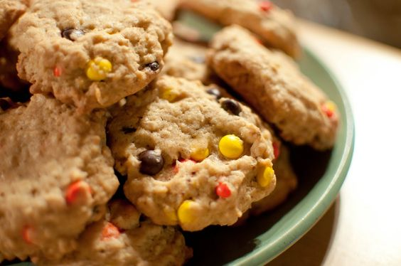 Chewy Oatmeal Cookies with Reese's Pieces