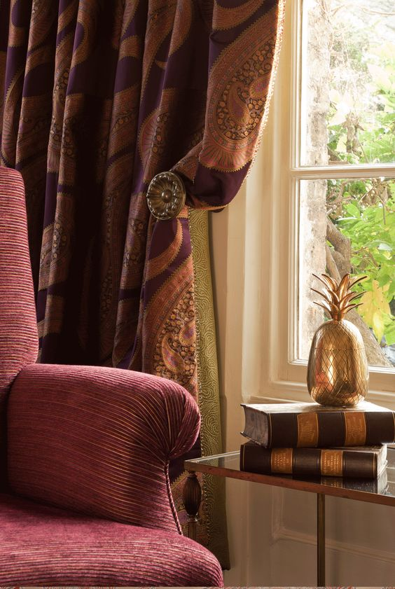 QUECHUA fabric curtains tie backs   【Fabric】Decorations ...