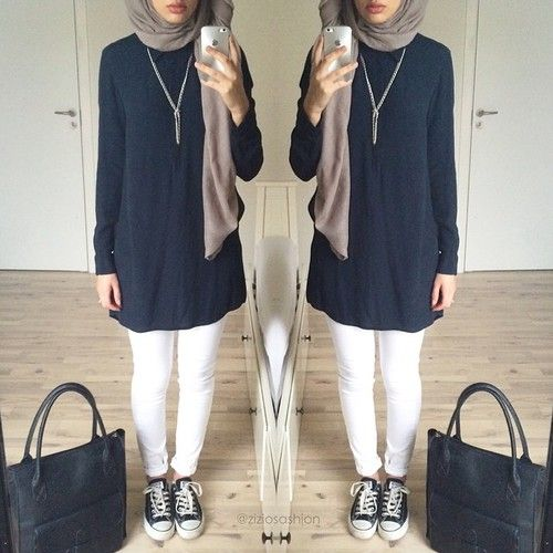 Hijabs Hijab Styles And Sneakers On Pinterest