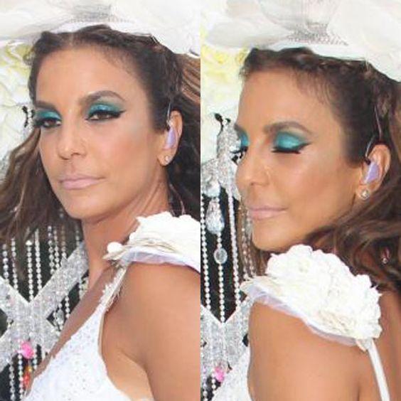 A maquiagem esmeralda de Ivete Sangalo