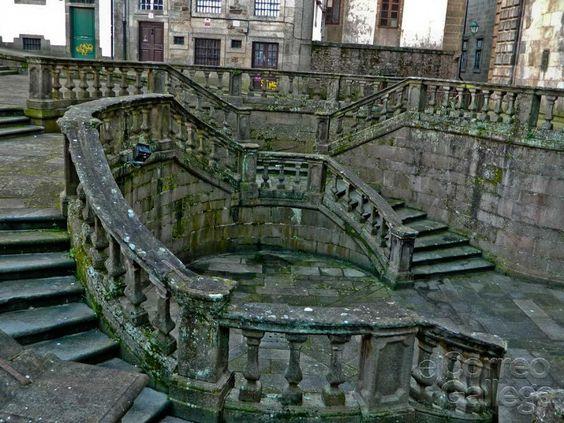 Escaleras del monasterio de san mart n pinario santiago de compostela spain arquitectura - Santiago de compostela arquitectura ...