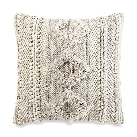 Add A Comfy And Stylish Touch To Your Space With The Tufted Square Throw Pillow Made Of Wool And Cott Throw Pillows Textured Throw Pillows Stripe Throw Pillow