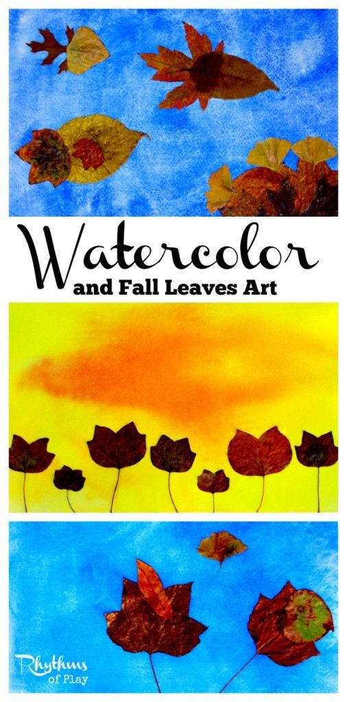 Watercolor and fall leaves art activities watercolors for Unique fall crafts for adults