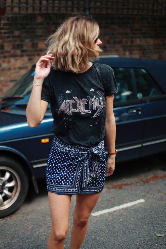 adenorah: LA STYLESkagen bag - Skagen watch - Isabel marant skirt -vintage t-shirt - topshop shoes http://fancytemplestore.com
