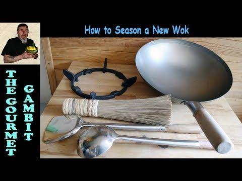New Wok Cleaning Seasoning Accessories Tips And Tricks Youtube Wok Carbon Steel Wok Wok Cooking