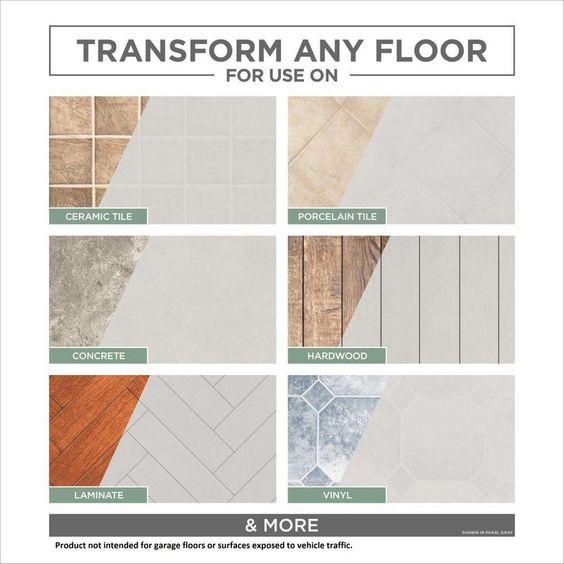 Rust Oleum Rocksolid Home 1 Gal White Interior Floor Base Coating 357300 The Home Depot In 2020 Rustoleum Wood Stain Floor Paint Design Interior Floor