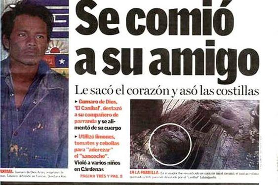 GUMARO DE DIOS; EL CANÍBAL DEL SURESTE. 047a2e2ef9eb07a9eaad3fd417555575