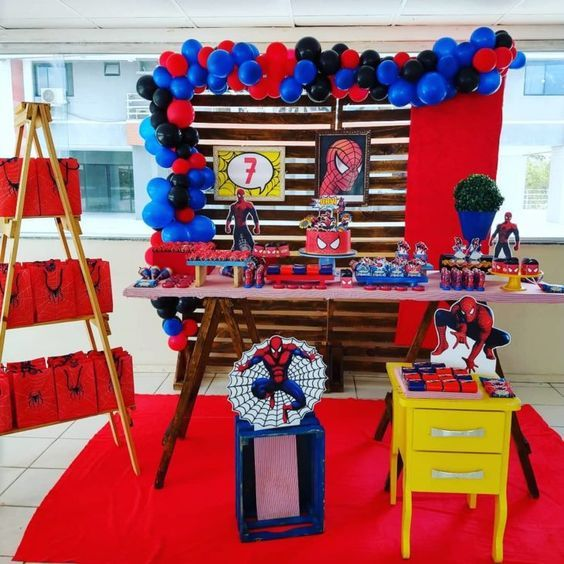 Ideas Para Fiesta Tematica De Spiderman Fiesta De Spiderman