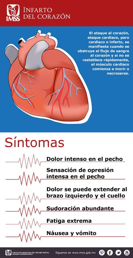 Síntomas para detectar un infarto del corazón #primerosauxilios #ataque #corazon